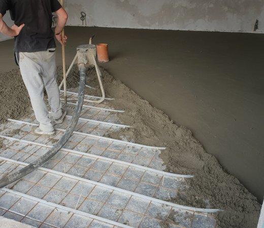 esztrich betonozás
